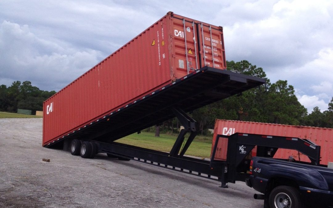 Shipping Container Trailer >> Professional Storage And Shipping Container Delivery All The Time