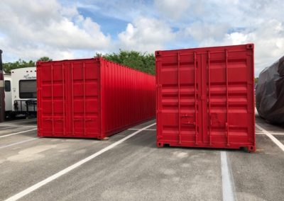 E&S Equipment Painted Storage Containers