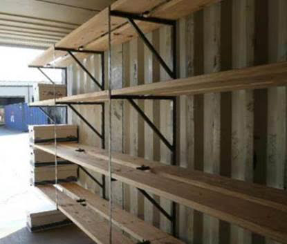 Shipping/Storage Container Shelves